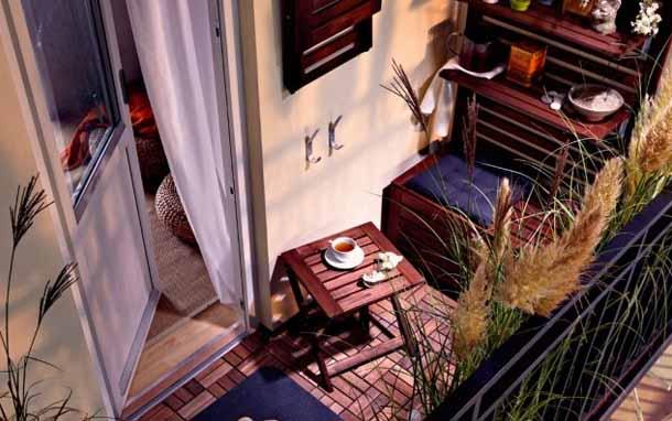 как разместить вещи на балконе