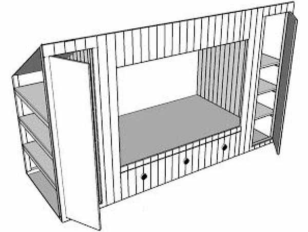 шкаф для дачи своими руками схема