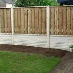 Деревянный забор на основе еврозабора
