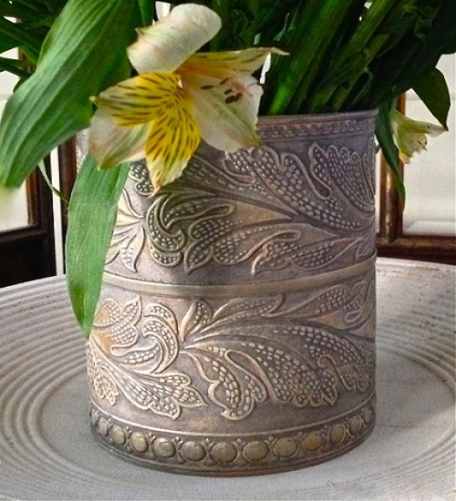 декор ваз из обоев
