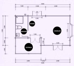 дачный домик проект1