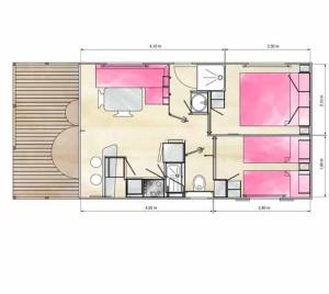 дачный домик для узкого участка