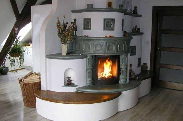 печка в частном доме