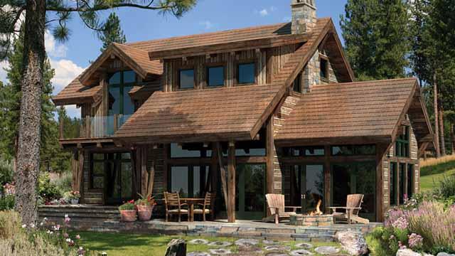 проект террасы у деревянного дома