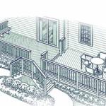 проект террасы у дома