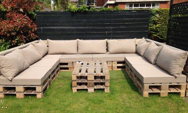 садовая мебель из поддонов для дачи