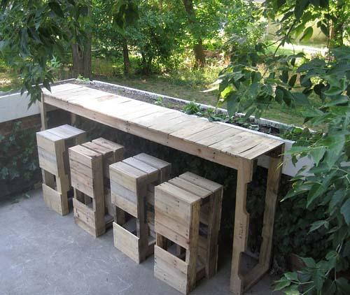мебель для дачи из поддонов своими руками