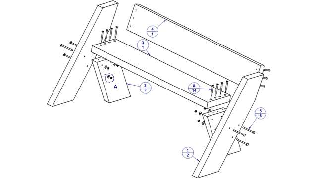 скамейка со спинкой чертежи