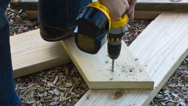 как сделать деревянную скамейку