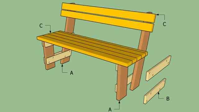 скамейка со спинкой чертеж
