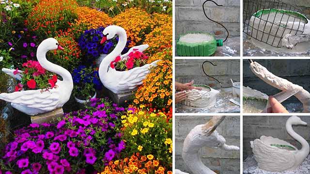 Цветы из пластиковых бутылок своими руками на клумбах