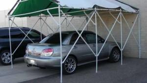 как сделать навес для машины