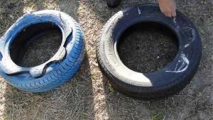 как самому сделать поделки из старой шины