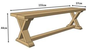 чертеж садовой скамейки