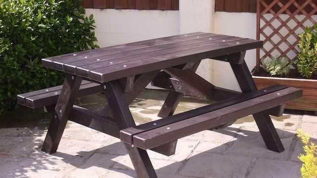 дачный стол с лавочками своими руками