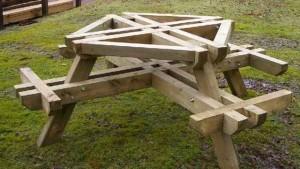 как сделать стол для дачи