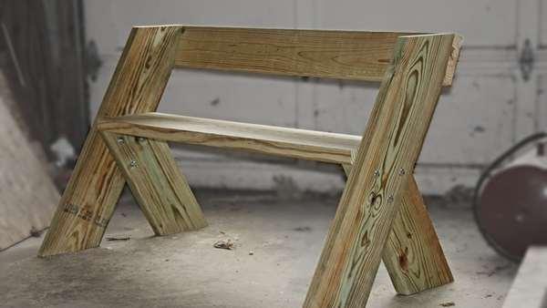 простая скамейка инструкция с фото