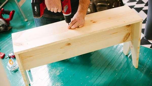 как сделать простую скамейку