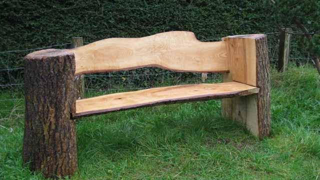 Необычная скамейка своими руками
