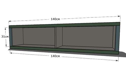 кровать из полок чертеж