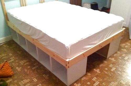 как просто сделать кровать своими руками