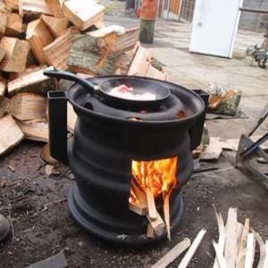 как сделать простую дровяную печь