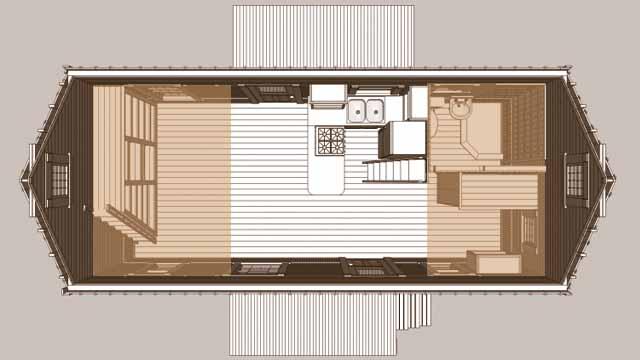 дачный домик проект фото