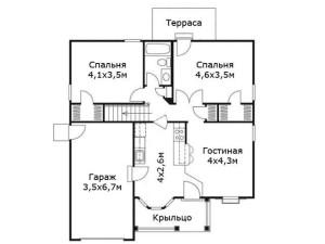проект дачного домика