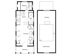 дачный домик план