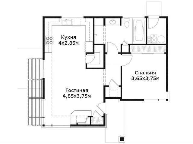 проекты дачных домиков