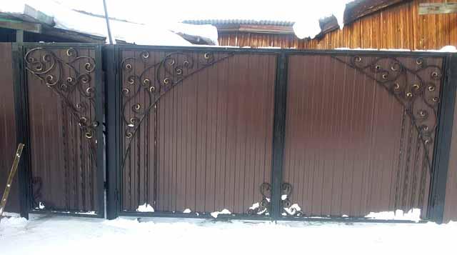ворота и калитка из профнастила своими руками