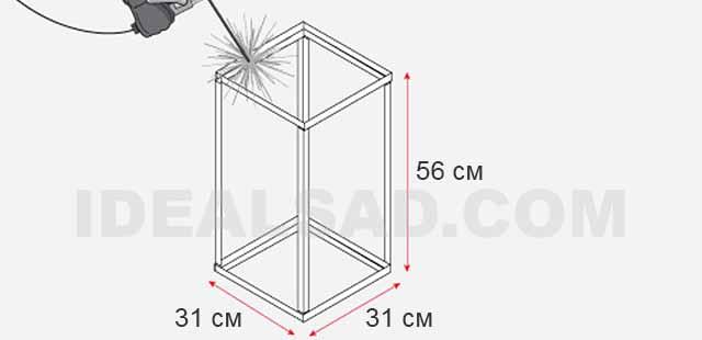 чертежи вытяжки для мангала