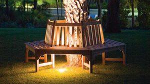 круговая скамейка из дерева своими руками