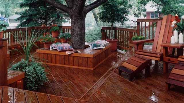 скамейки из дерева фото