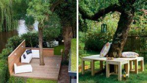 красивые скамейки из дерева