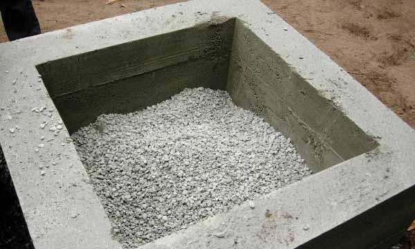 уличный очаг своими руками из бетона