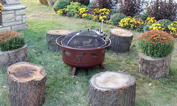 место для костра в саду