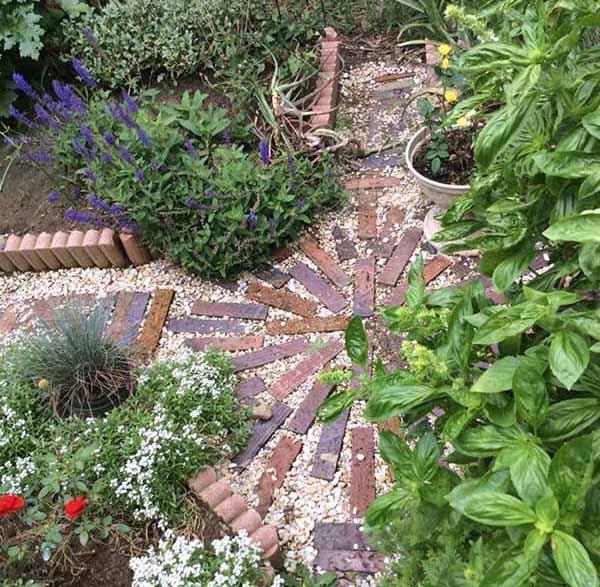 красивый двор частного дома фото грядок