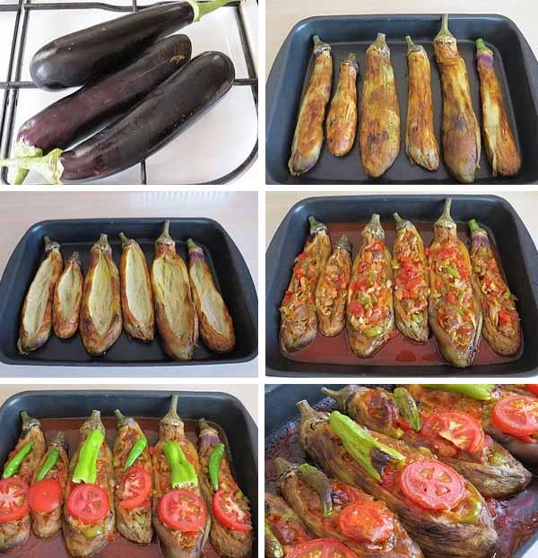 фаршированные баклажаны в духовке Имам Баялды