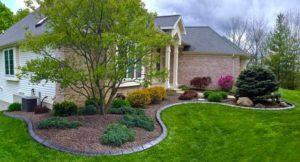 бетонный садовый бордюр