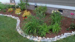 красивый садовый бордюр из камня