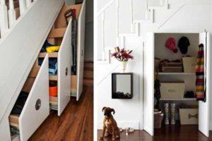 кладовка под лестницей фото