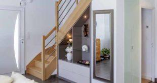 практичный гардероб под лестницей фото