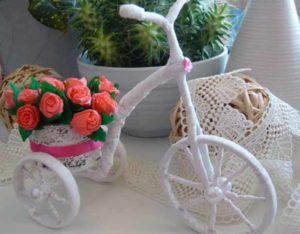 Подставка для цветов Велосипед своими руками